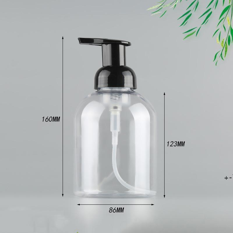 500 ملليلتر ناحية المطهر رغوة زجاجات مضخة بلاستيكية شفافة زجاجة مضخة بلاستيكية للسائل سفينة البحر EWE6205