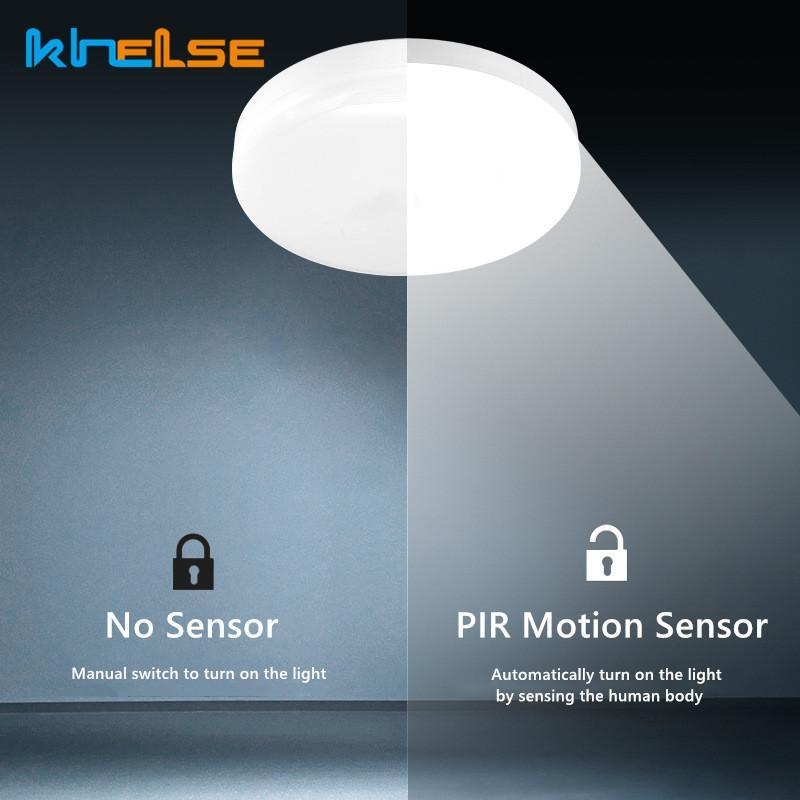Ceiling Lights Indoor Outdoor PIR Smart Sensor LED Panel Lamp IP56 Waterproof 20W   30W High-bright Light For Kitchen Bathroon