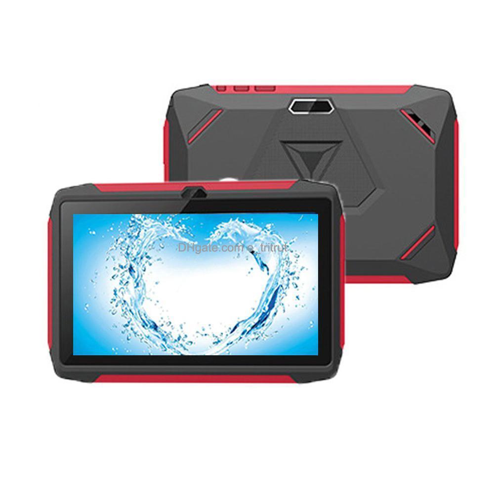 "Kids Brand Tablet PC 7 ""7 بوصة Q98 رباعية النواة A33 HD شاشة Android 9.0 Allwinner A50 1 جيجابايت RAM 16GB ROM بلوتوث واي فاي آلة التعلم للطفل"