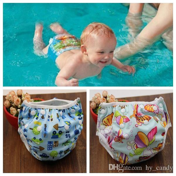 유니섹스 프리 사이즈 방수 조정 가능한 수영 기저귀 풀 바지 수영 기저귀 아기 재사용 가능한 수영장 기저귀 16 색