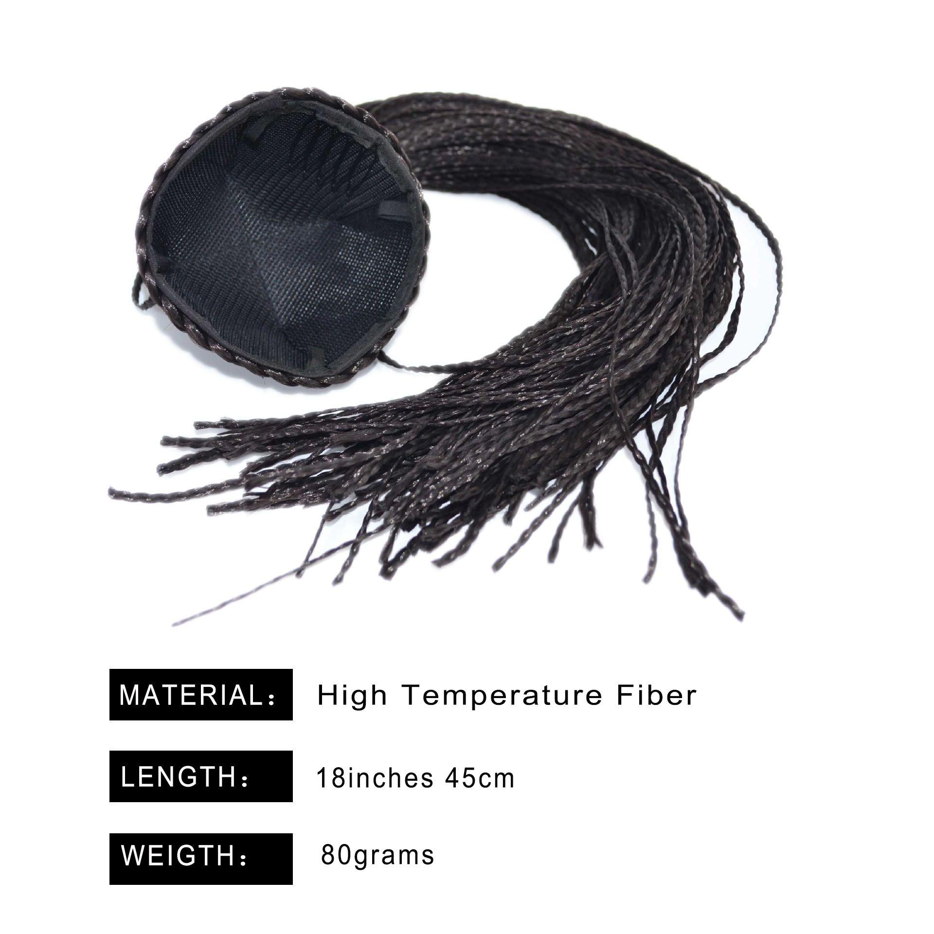 Tranças rabo ponytail bangs cabelo sintético chignon cor preta diy trançando penteados criatividade fone de cabelo