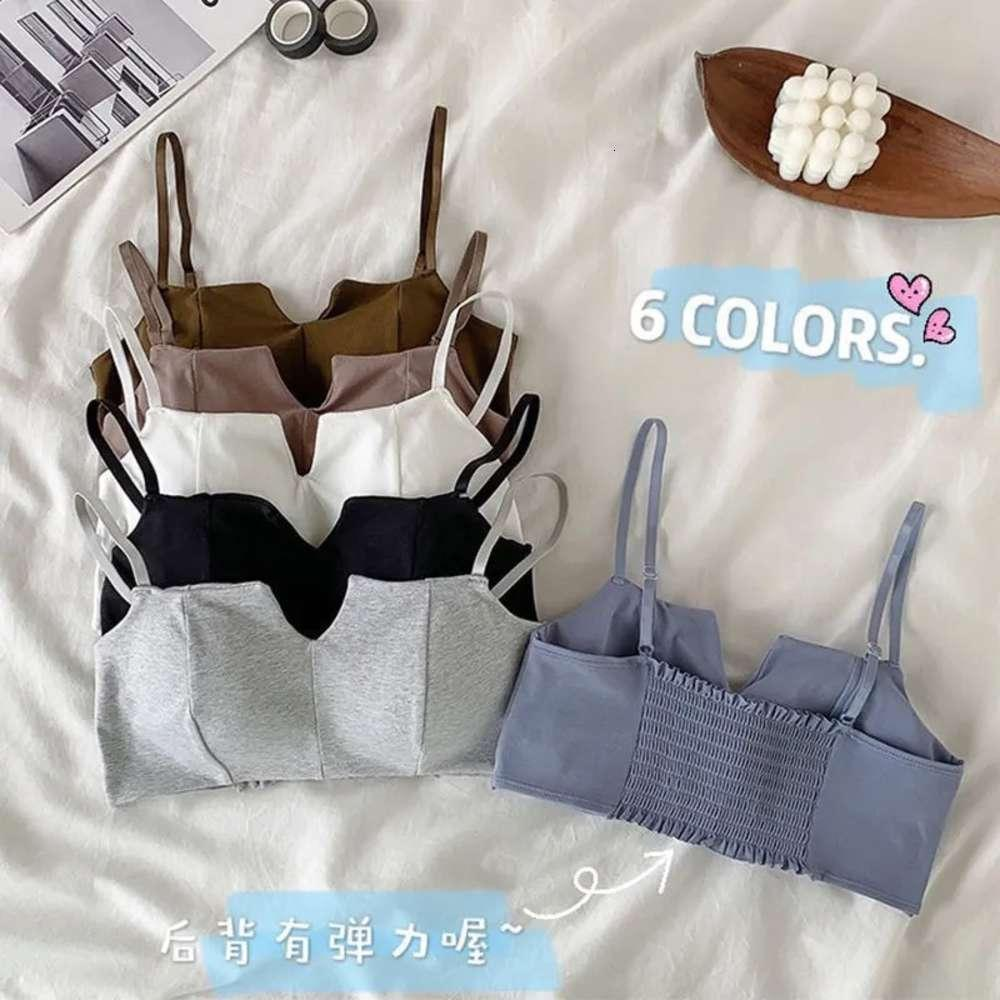 Koreanische Frauenunterwäsche, schöner Rücken, süß und sexy, kein Stahlring-BH, mit Anti Gloss reiner Baumwoll-BH-Mädchen gesammelt