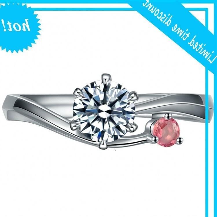 Ченронг Горячие Продажи Посеребренные Порошок Алмазные Кольцо Алмазный Кольцо Мода Ювелирные Изделия