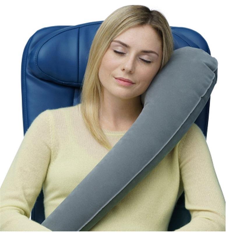 Uzun Mesafe Seyahat Yastık Uyku Artifact Taşınabilir Şişme Araba Düzlem Yan Uyku Boyun Yastık U Uzun Yastık 1414 V2
