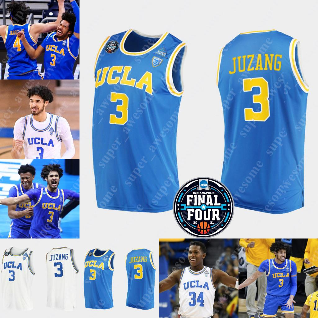NCAA UCLA Bruins Basketball Jersey 3 Johnny Juzang 5 Chris Smith 4 Jaime Jaquez Jr 10 Tyger Campbell 1 Jules Bernard Cody Riley David Singleton Jake Kyman Jaylen Clark