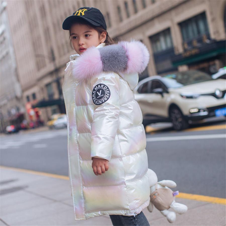 2021 Moda Marca Moda Ropa Cálido Jacket Chaqueta Niños Abrigo Parka Piel grande Niños Adolescente Engrasamiento Outerwear Frío Invierno