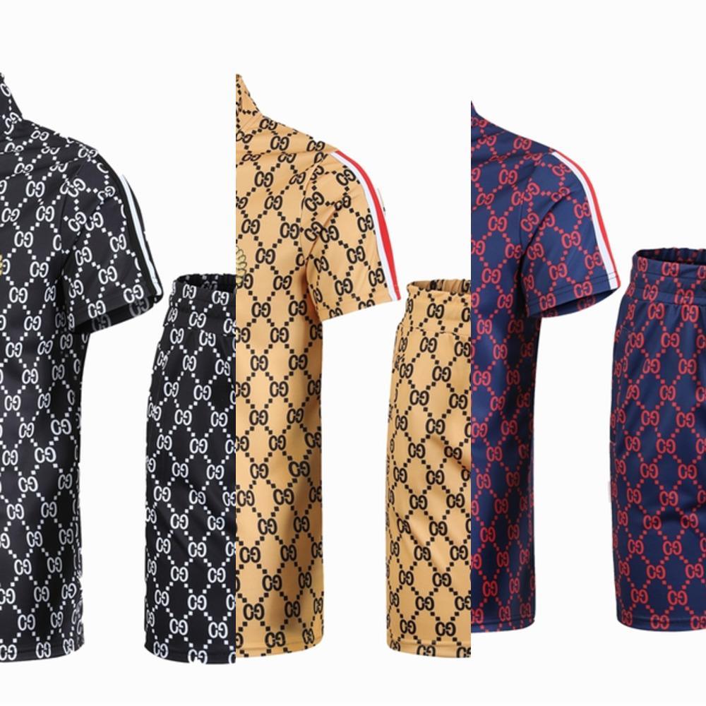 2021 Sommer Mode Mode Kurzarm T-Shirt Shorts Hübsche Gelegenheitsspiele Europäische und amerikanische Mode Zwei Teiler Sportanzug X0601