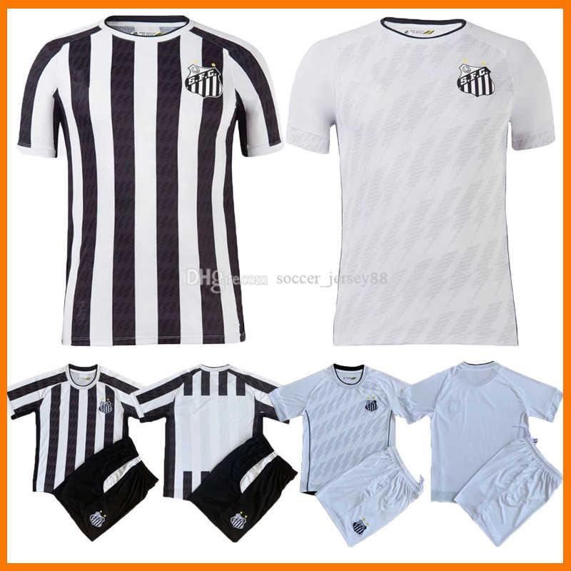 2021 2022 Santos FC Soccer Jerseys 22 22 2021-22 Home White Kids Kit Felipe Jonatan Kaio Jorge Pinto Ramos Pato Sánchez Sotlardo Jersey S.F.C. camisas de fútbol