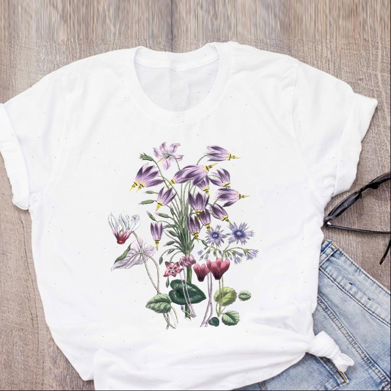 Frauen t shirts grafische mode kleidung blume druck niedlich gedruckt sommer lady damen kleidung tops shirt teen weiblich
