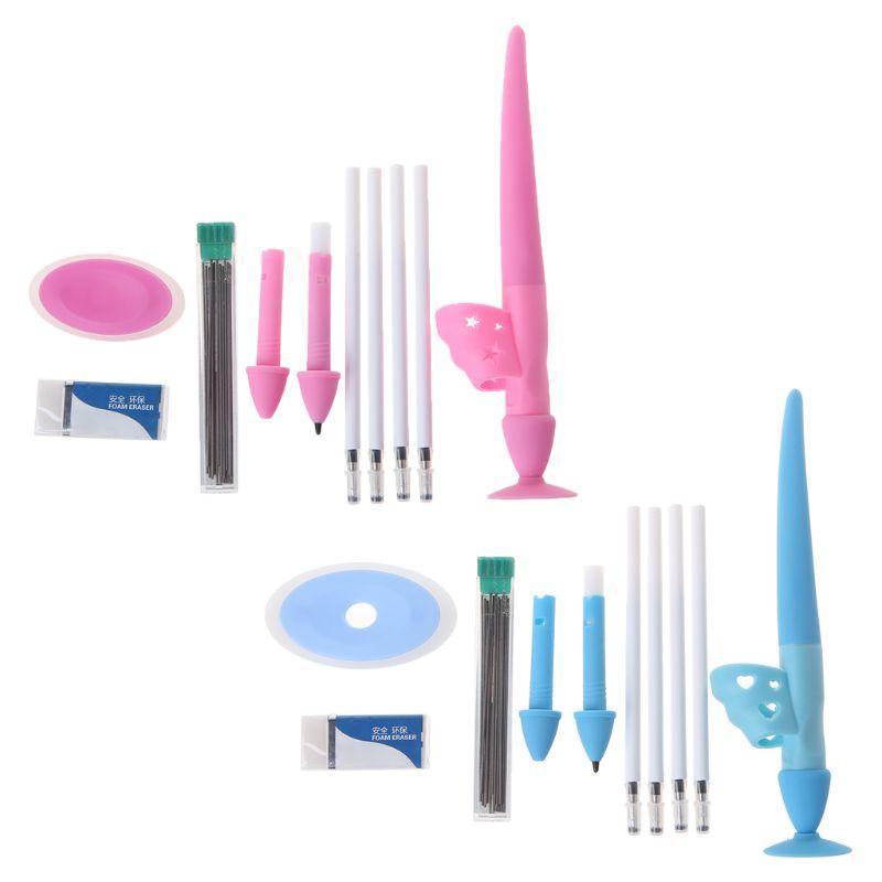 Recharges Soft Silicone Crayon Grip Correcteur Auto Creative Ergonomique Formation Enfants Enfant Aide Posture Out-Outil