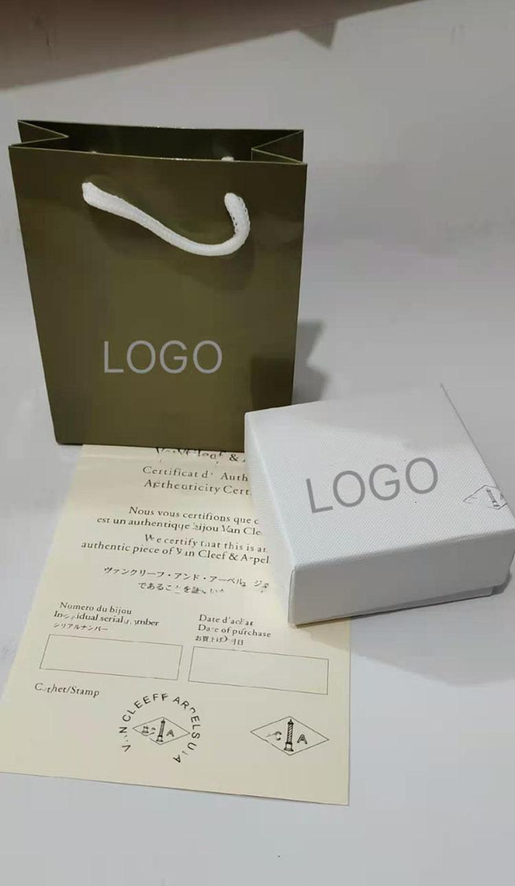 Fanjia 목걸이 귀걸이 VC Fanke 4 잎 녹색 원래 보석 포장 상자 4kyd