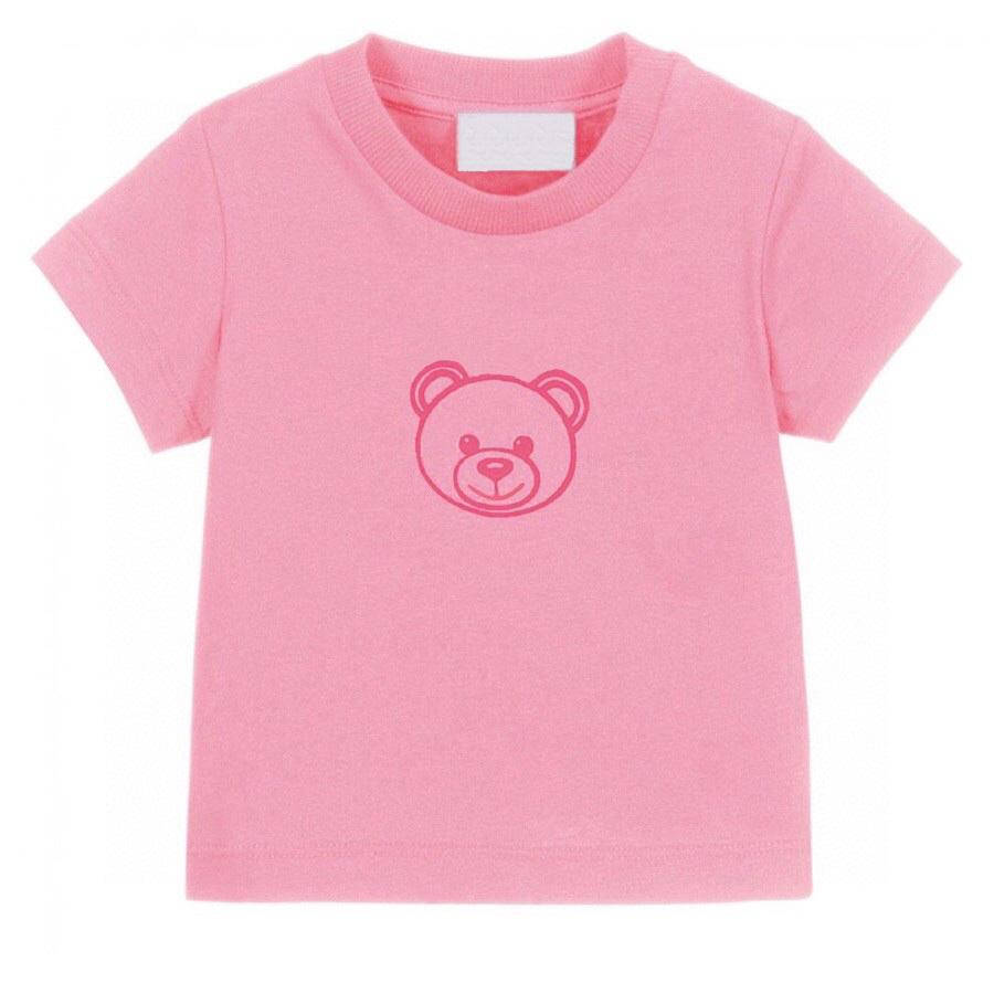Summer Kids T-shirts Lettre Ours Tees Mignon Casual garçon bébé vêtements confortables golding T-shirt fille multicolore Tops enfants 2021