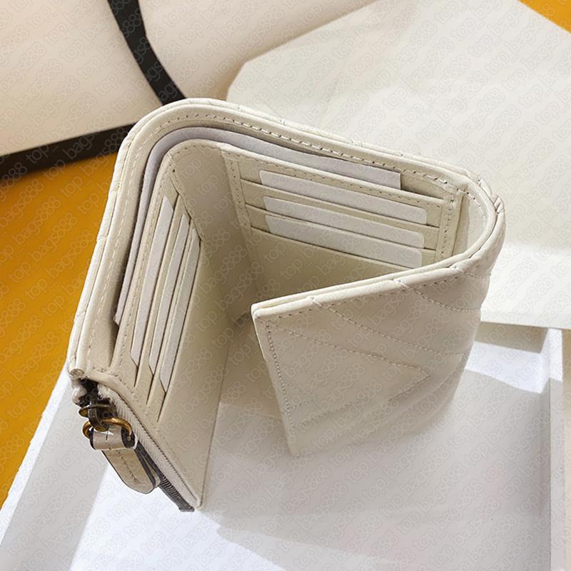 Designer Marke White Womens Herren Mode Welle Brieftaschen Zick Zag Marmontt Echtes Leder Rindsleder Geld Clip Münze Geldbörse Kreditkartenhalter Reißverschluss Brieftasche