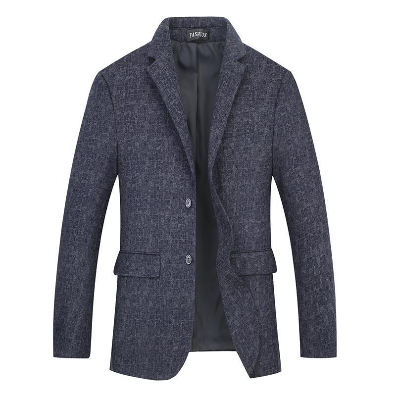 Plus Blazer Giacca per uomo Inverno e autunno Casual Casual Plaid Suit Vestito Risvolto Slim Fit Stylish Coat Lattice Parka Abiti Blazer