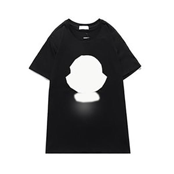 Designer MonClair Homens Mulheres Camisetas Alta Qualidade Casual Moda Pura Algodão Impressão Preto Branco Homens e Mulheres T-shirt Tamanho M-2XL S1