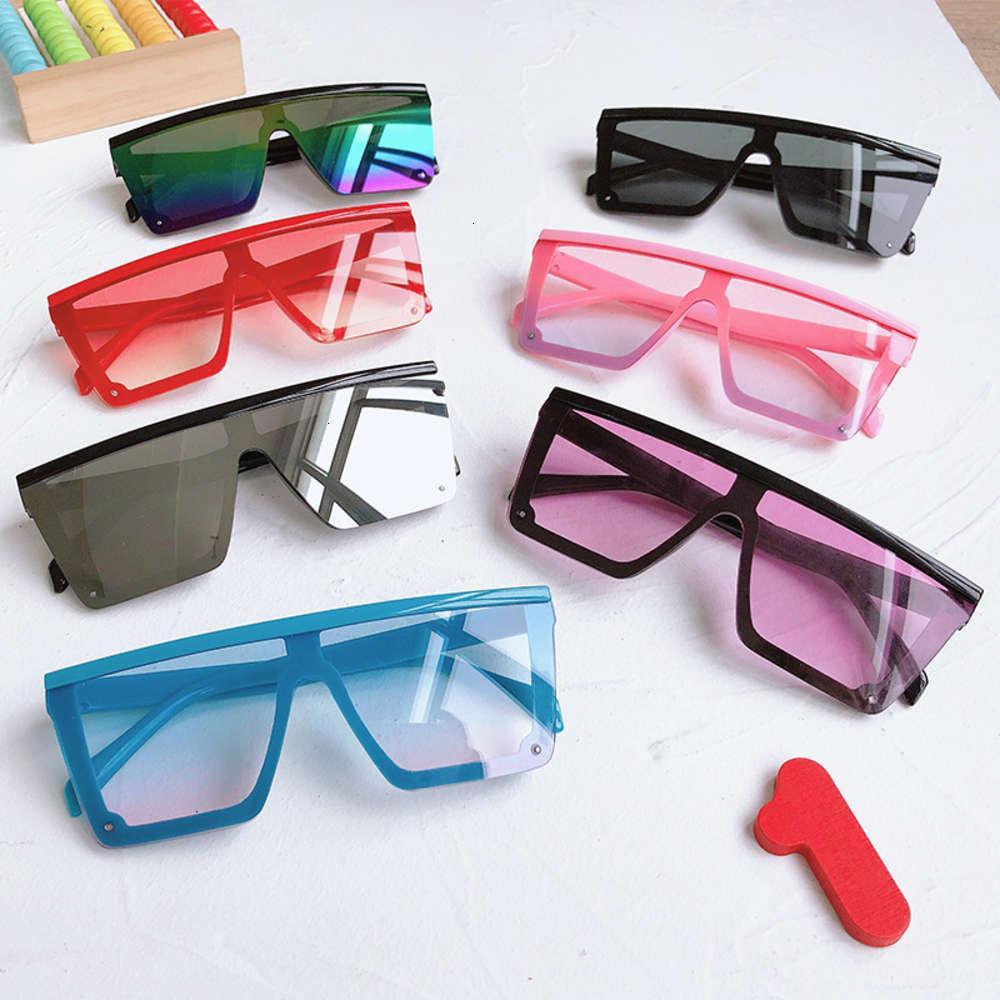 Enfant 2021 Fashion Plastic Enfants Square Square Square Sunglasses Enfants Pink Sun Lunettes Filles Garçons Baby Sunglasses UV400 Oculos