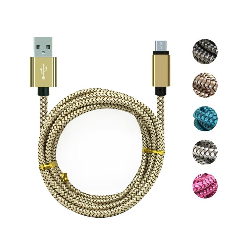Tipo C Micro V8 USB Cabo 3M Thickber Trançado Nylon Trança Tecido Torção Cabos para Samsung S20 Ultra S10 Plus S6 S7 S8 S9 Nota 8 HTC