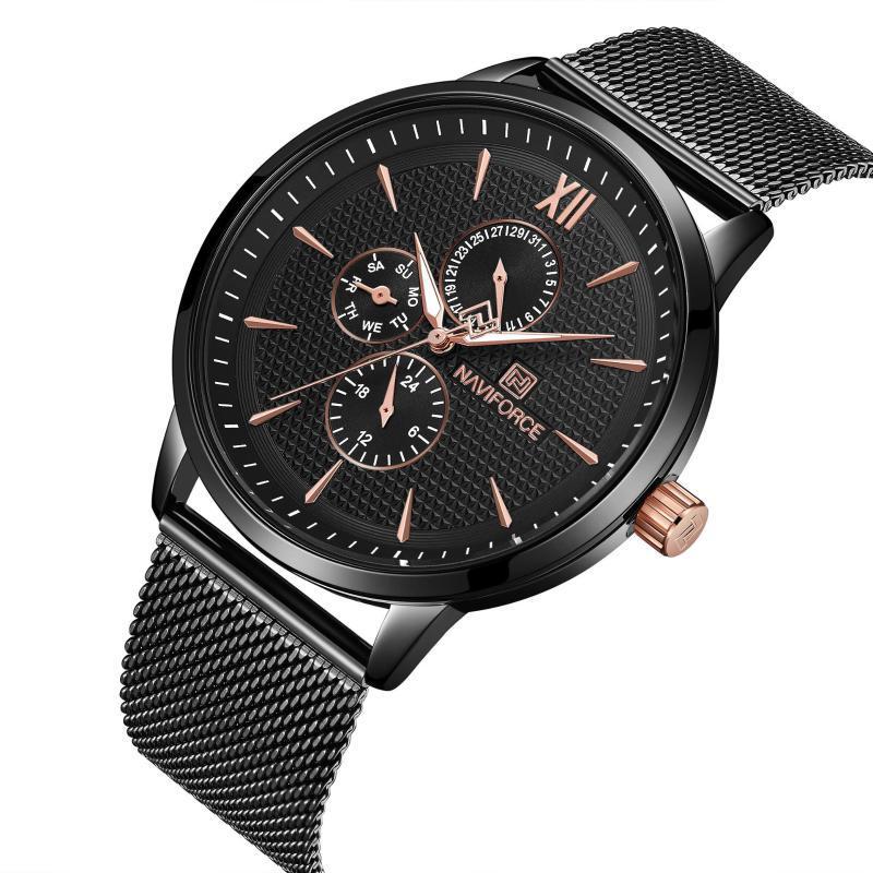 Armbanduhren 2021 Studentensportuhr-Konzept Herren Mesh Strap Six-polige wasserdichte Quarz-Mode