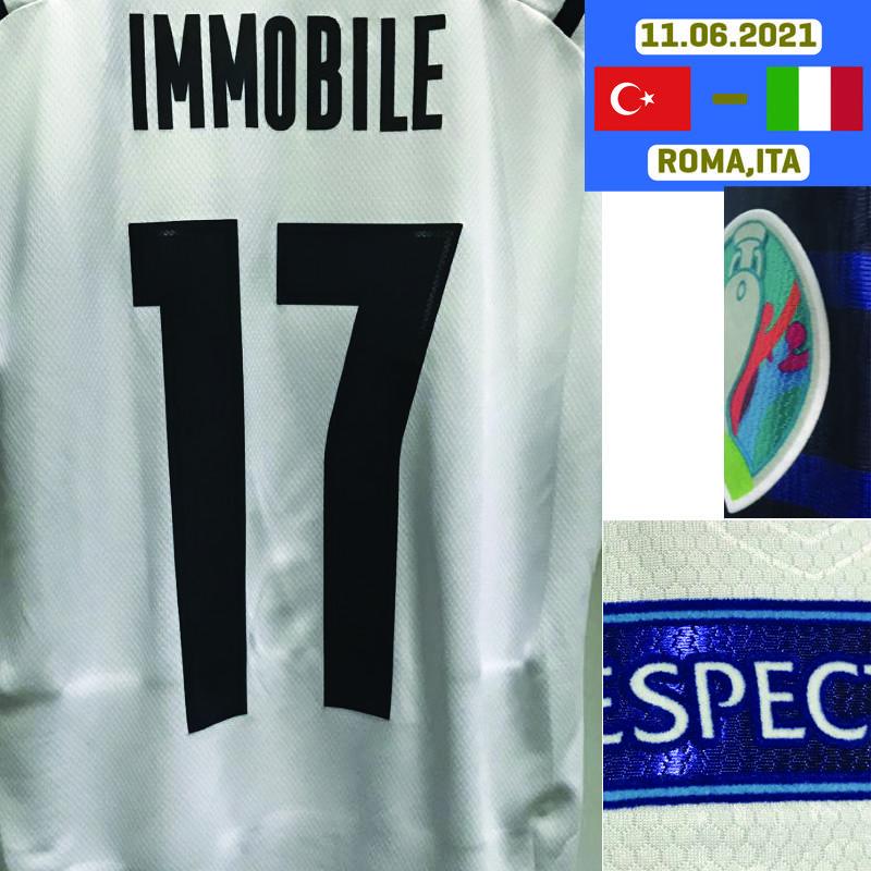American College Football Wear 2021 Jogador Versão Imobile Jersey Insigne Maillot Jorginho Bonucci Spinazzola com Detalhes da Jogo Tuta Da Calcio Camisa