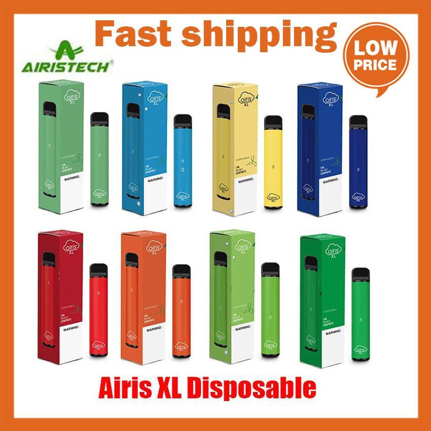 10% Оригинал Airis XL Одноразовые сигареты POD устройства Kit 1200 Puf Cop 850mAh 5ML Предварительно портативный PARE PEAPE PAR PEN PLUS PLUS XXL MAX 100% Аутентичные 12 цветов