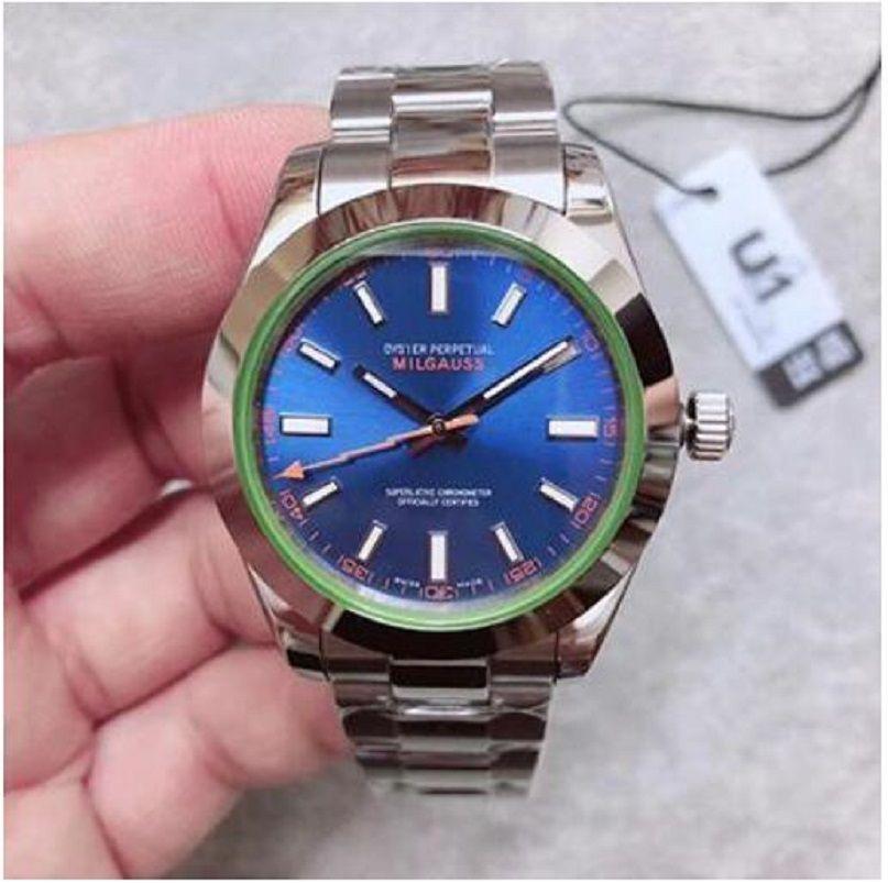 U1 заводские мужские часы Sapphire стекло из нержавеющей стали автоматическое движение механические мужчины часы мужские наручные часы
