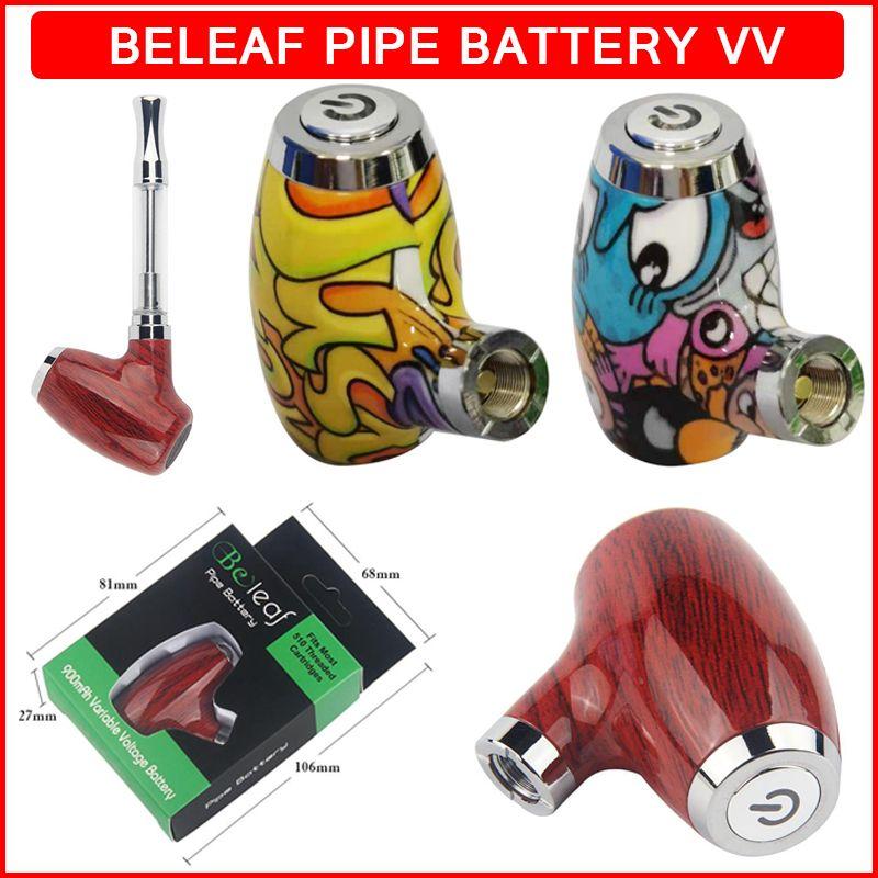BeLeaf Vape 배터리 510 스레드 기화기 펜 예열 된 가변 전압 배터리 900mAh 마이크로 USB 충전 두꺼운 오일 빈 카트리지