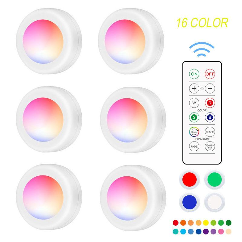 16 COLOR NINGHT LIGHT Atmosphere 6PCS lamp 2pcs remote control