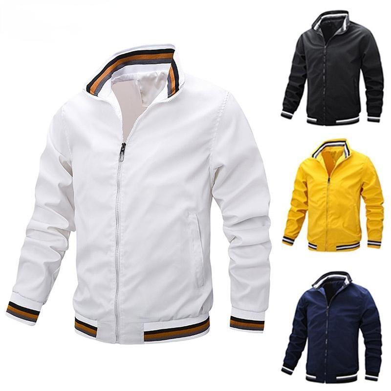 Jaquetas masculinas 2021 primavera homens casual casual moda windbreaker Bomber casaco militar ao ar livre sportswear