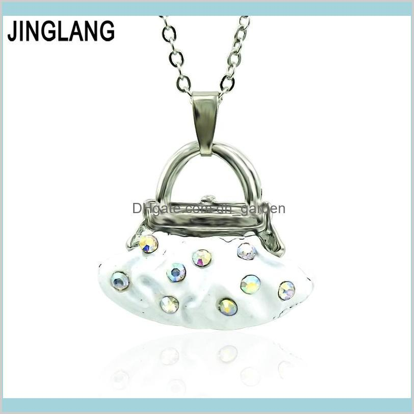 Halsketten Anhänger Jinglang Anweisung Legierung Tanzballett Mädchen Fairy Taschen Halskette Kette Anhänger Modeschmuck Frauen Drop Lieferung 20