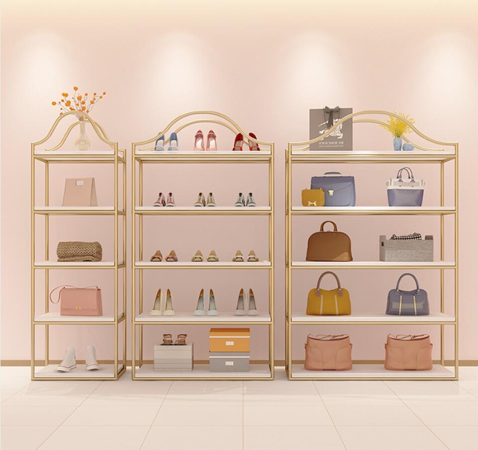 Commercial Furnitures Shoe store rack display shelf landing shop combination creative clothing multi-layer shoes racks