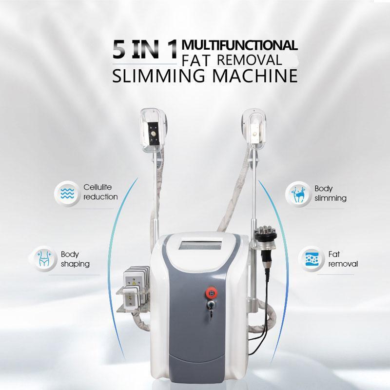 Cryothérapie FAT Congélation Machine taille Minceur Cavitation RF Équipement RF Réduction du poids Lipo Laser 2 Cryo Heads peut fonctionner en même temps