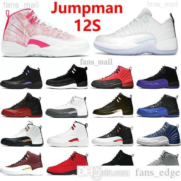 En kaliteli Jumpman 12'lerin havaJOryantalBasketbol Ayakkabıları 12 Düşük Paskalya Dondurma Büküm Koyu Concord Ters Taksi Grip Oyunu Üniversitesi Altın Erkek Kadın Spor Sneakers