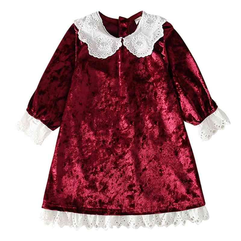 Toddler Girl Dresses Lace Floral Child Dress Patchwork Kids Spring Autumn Clothes 210528