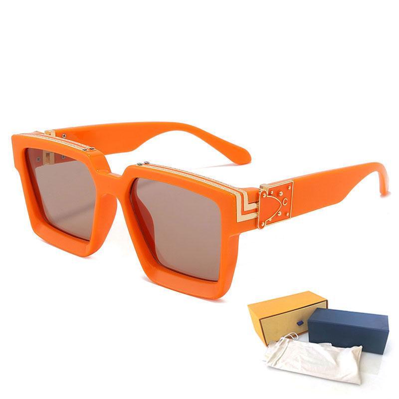 Yüksek Kaliteli Kadının Güneş Gözlüğü Milyoner Lüks Moda Erkek Güneş Gözlükleri UV Koruma Erkekler Tasarımcı Gözlük Degrade Metal Menteşe Göz Kadınlar Nglasses 96006