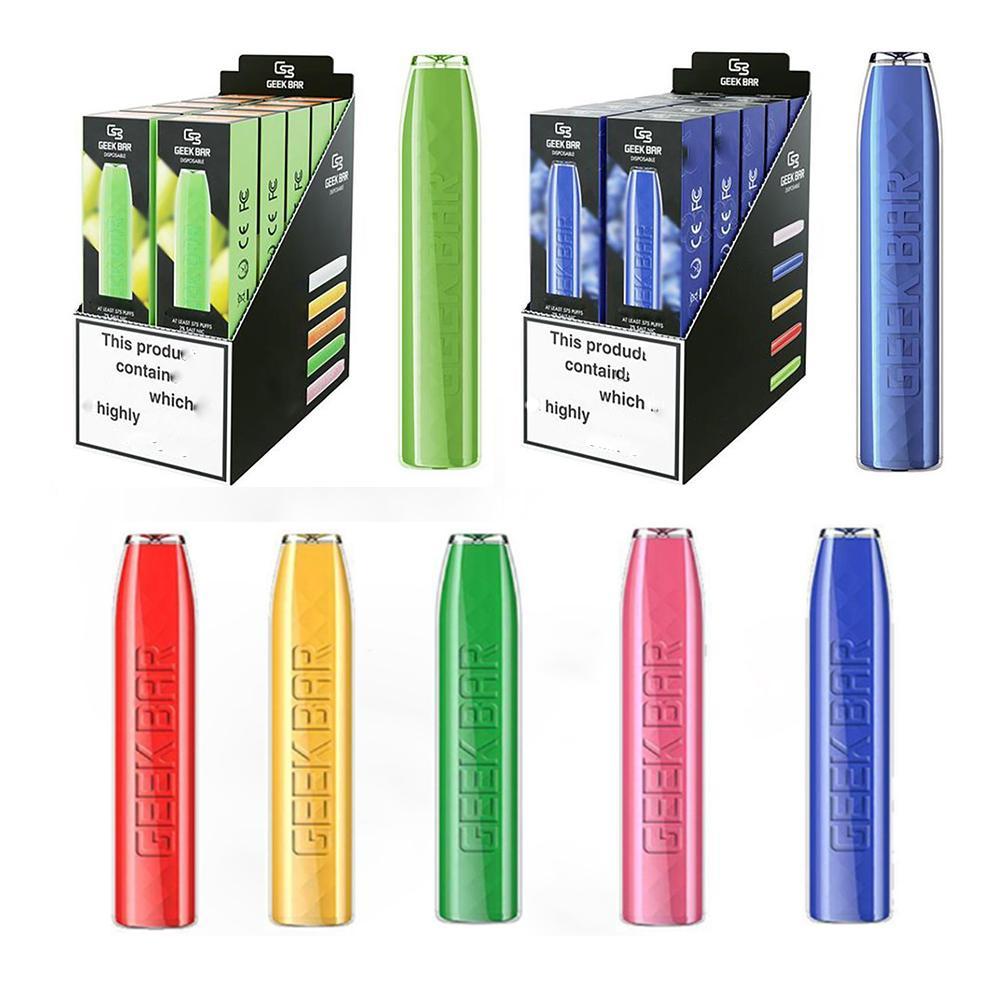 Geek Bar Disposable E Cigarette Device Pod Kit 500mAh Battery 2.4ml Pre-filled Cartridge Vape pen VS puff plus bang xxl flum