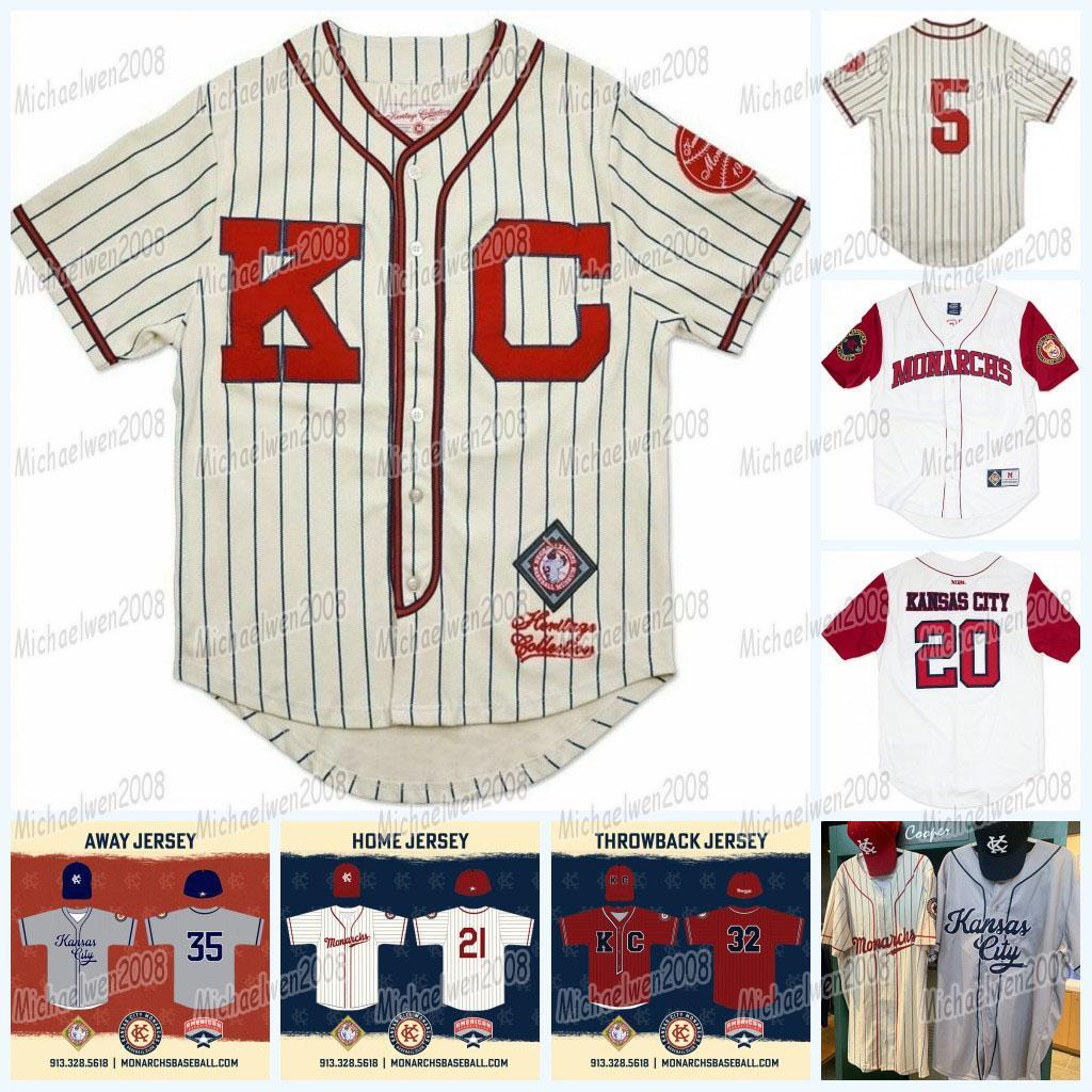 Kansas City Monarchs Jersey Throwback 5 Jackie Robinson Negro League 100% cosido cosido Jerseys de béisbol Cualquier Número Número Buena Calidad