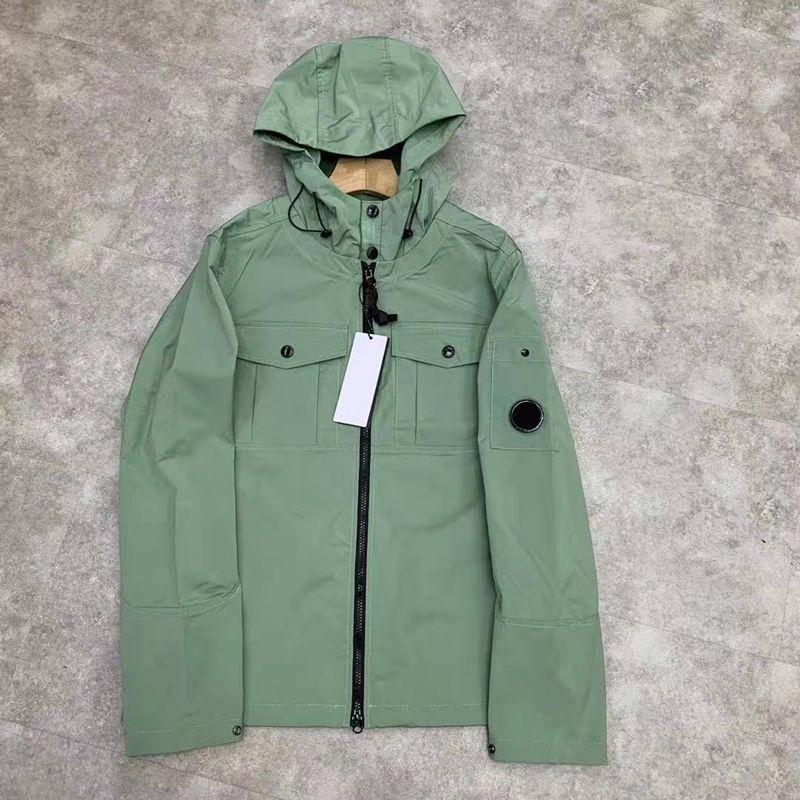 2021 패션 자켓 솔리드 컬러 캐주얼 지퍼 후드 코트 봄과 가을 야외 남자 스포츠 탑