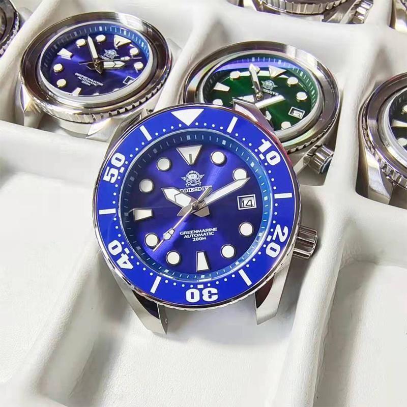 Adies Dive Men's Luxury Watch 316L Caso de Aço Inoxidável Safira 200m Cerâmica Bezel BGW9 Super Luminous relógios relógios de pulso