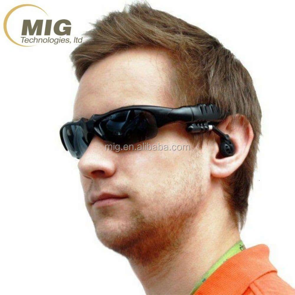 Outdoor Waterproof MP3 BT sunglass, 270 degree Rotation Adjustable Freely Wirels Headphone Sport headset Sun glass