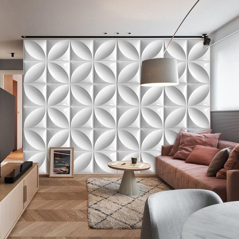 방수 패션 디자인 스티커 유럽 침실 정전기 방지 아트 벽지 50 * 50cm 4pcs 1320 v2에 대 한 습기 방지 엠보싱 3D PVC 벽 패널