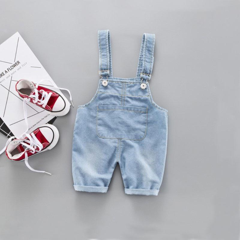 Jumpsuits Baby Girl Clothes Denim Rompers Toddler Kids Boy Solid Pants Suspender Trousers Jean 6m-3y Playsuits