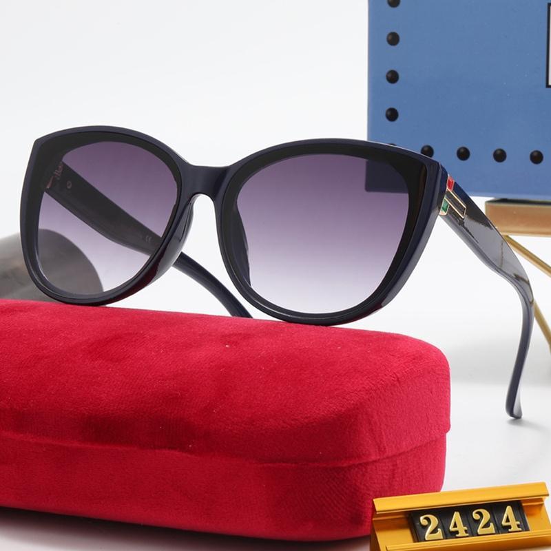 Mode chat lunettes de soleil lunettes lunettes lunettes de soleil lunettes de lunettes de concepteur Femme Classic Haute Qualité Conduite Couleur Film 6 couleurs 2424