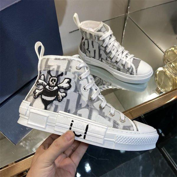 Designer Casual Shoes Mens Sneakers B23 Oblique Womens High Low Top B24 Technical Canvas Leather bee Classic Luxurys Trainers