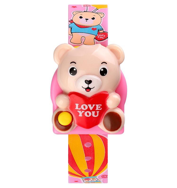 SKMEI Cute 3D Cartoon Bear 5Bar Waterproof Digital Children Watch Kids Sports Watches For Girls Boys Clock Christmas Gift 1748
