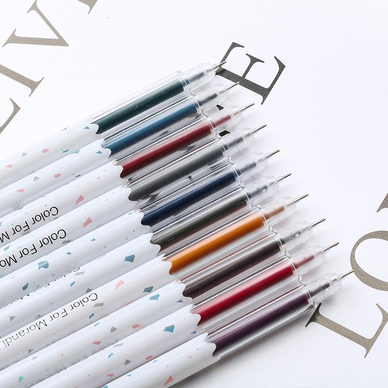 Morandi Neutral Set Hand Account Small Fresh Pen Multi Color Creative Student Stationery