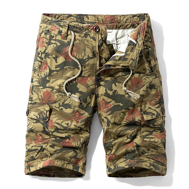 Calções masculinas henchiry tendência de verão casual calças de pesca moda macacão esportes ao ar livre solta