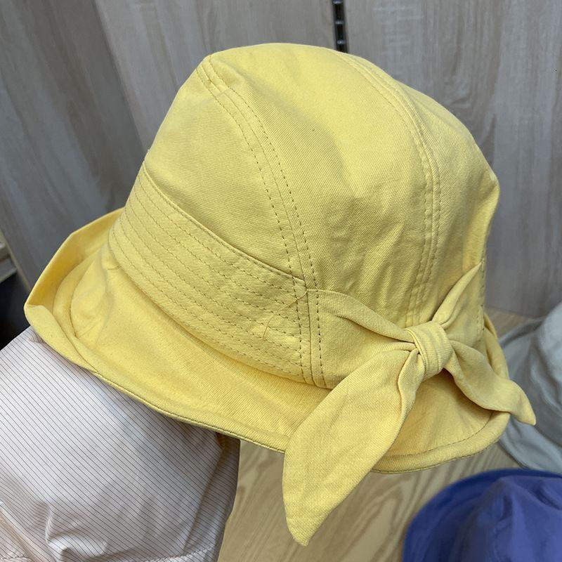 Bow curled front long back short fisherman's 2021 spring and summer new sun visor travel folding basin hat