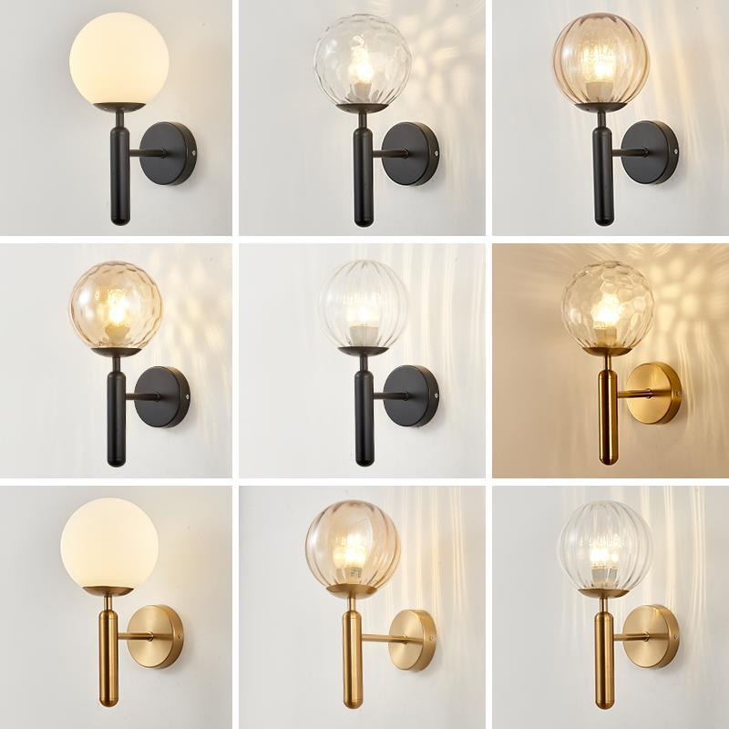 Nordic Net Red Light Luxury Wall Lamp American Aisle Staircase Living Room Background Modern Minimalist Bedroom Bedsid Lamps