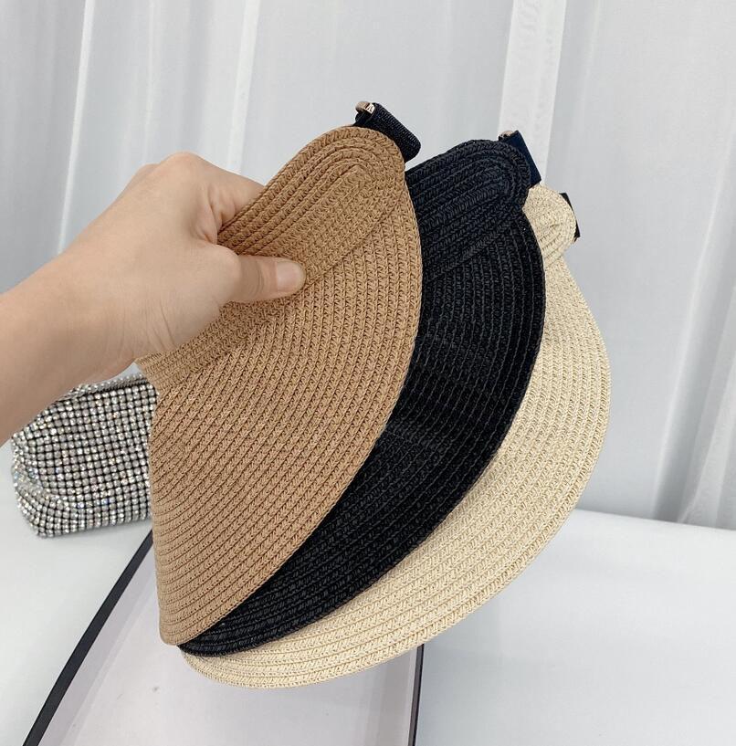 3colors Letter Empty Top Cap Casual Summer Visors Sun mens Hat Sports women Golf Tennis Outdoor Beach Headband Snapback Baseball Hats SunHat With Box