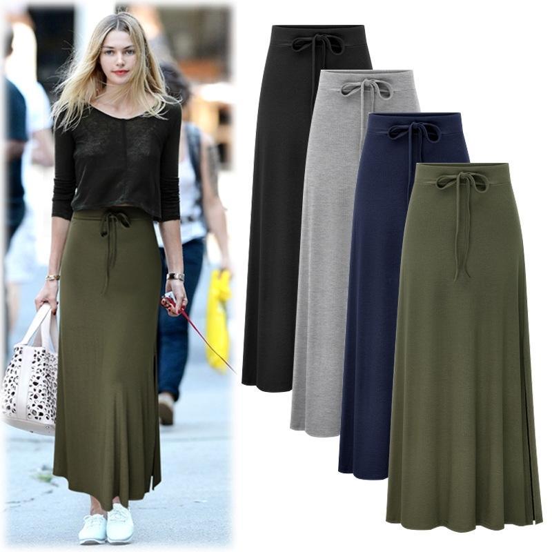 M-5XL Plus Größe Casual Frauen Falten Röcke Sommer Mode Empire Taille Lose Weibliche Bottoms Groß 210603